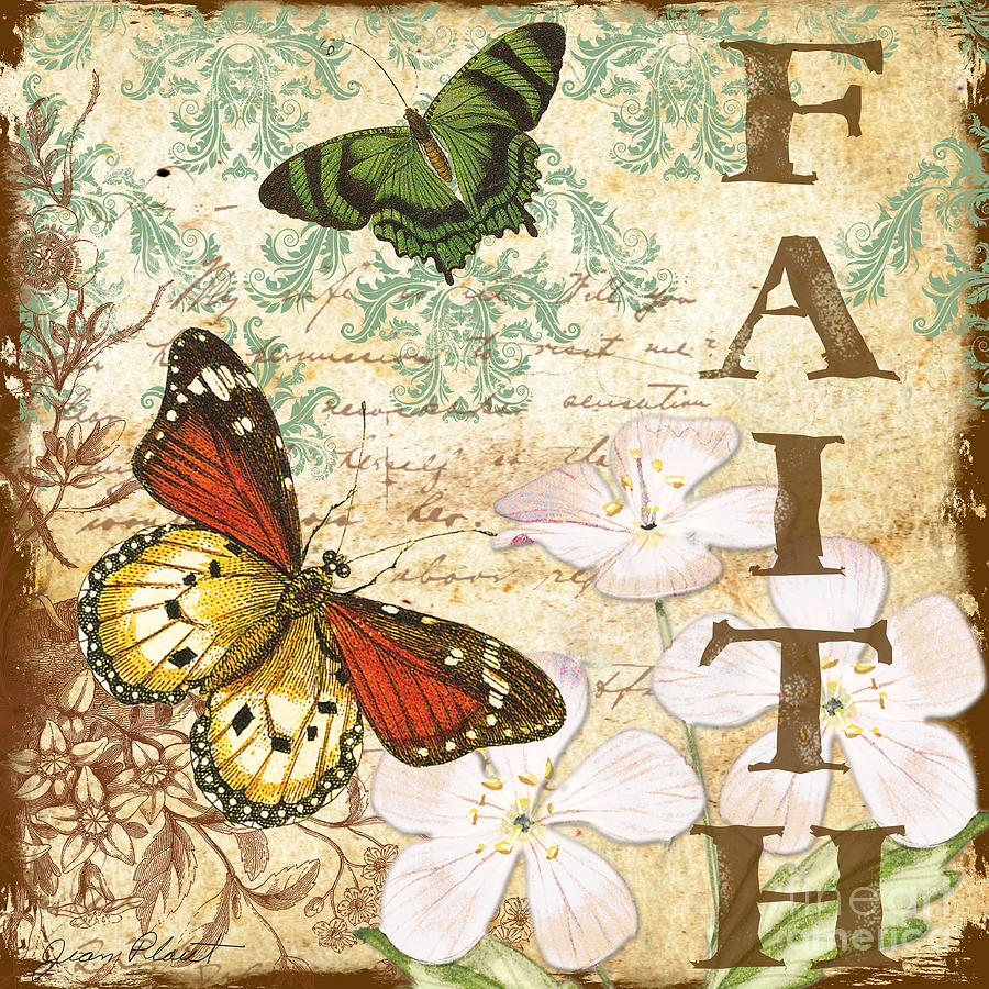 Faith and butterflies digital art by jean plout - Cuadros posters laminas ...