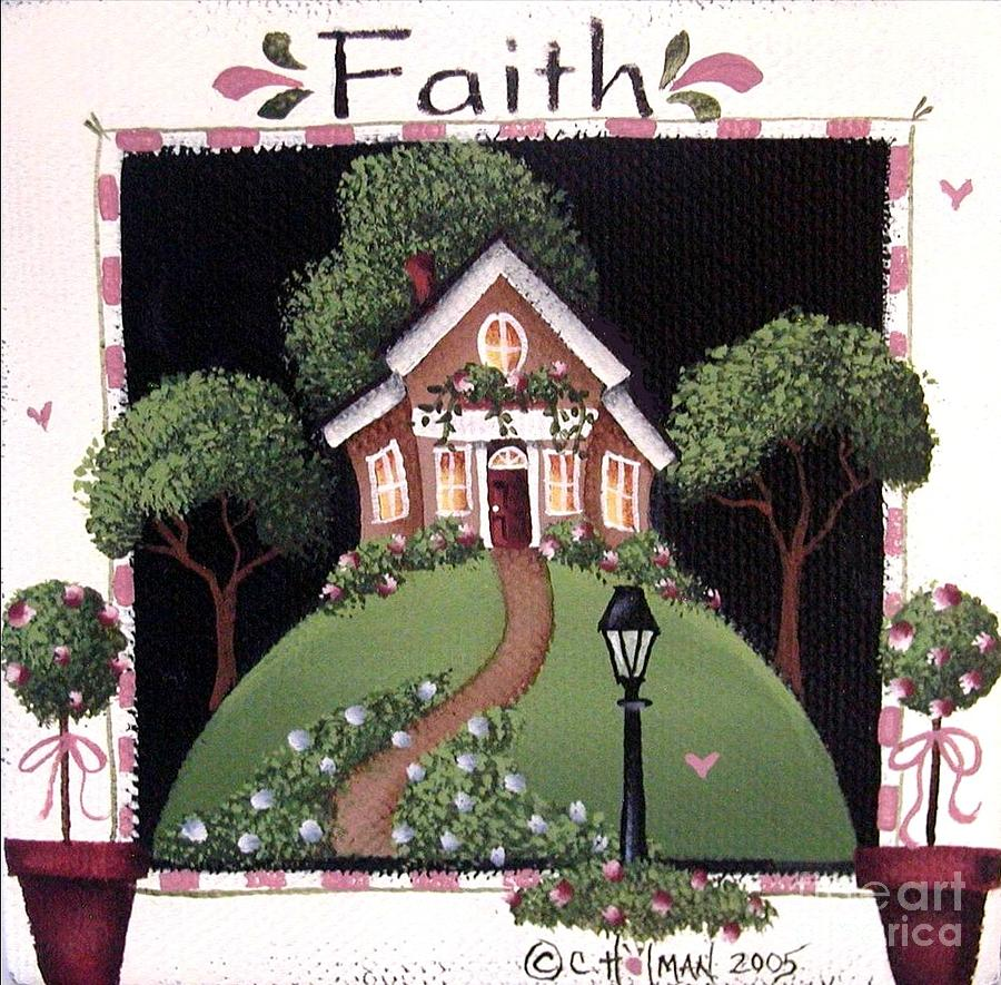 Print Painting - Faith by Catherine Holman