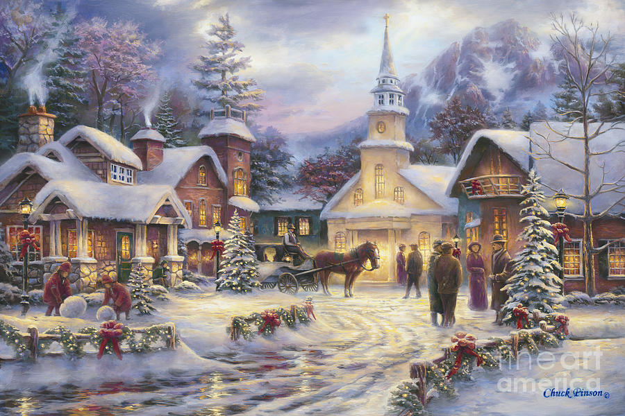 Christmas Painting - Faith Runs Deep by Chuck Pinson