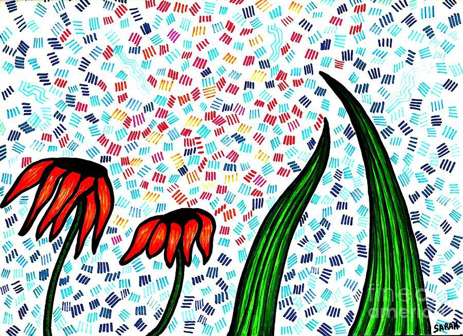 Flower Drawing - Faith by Sarah Loft