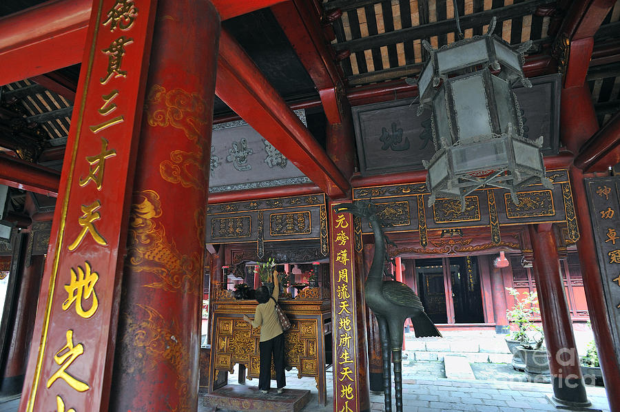 Temple Photograph - Faithfull In Temple Of Literature by Sami Sarkis