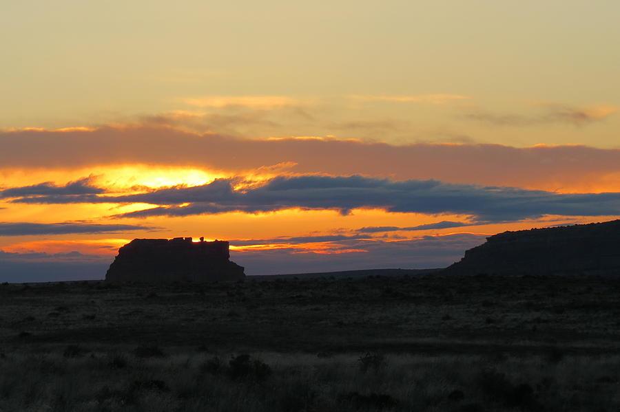 Chaco Photograph - Fajada Butte At Sunrise by Feva  Fotos