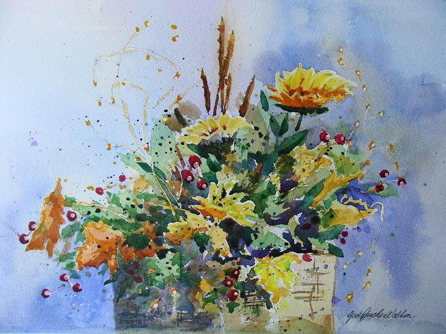 Autumn Still Life Painting - Fall Arrangement by Judy Fischer Walton