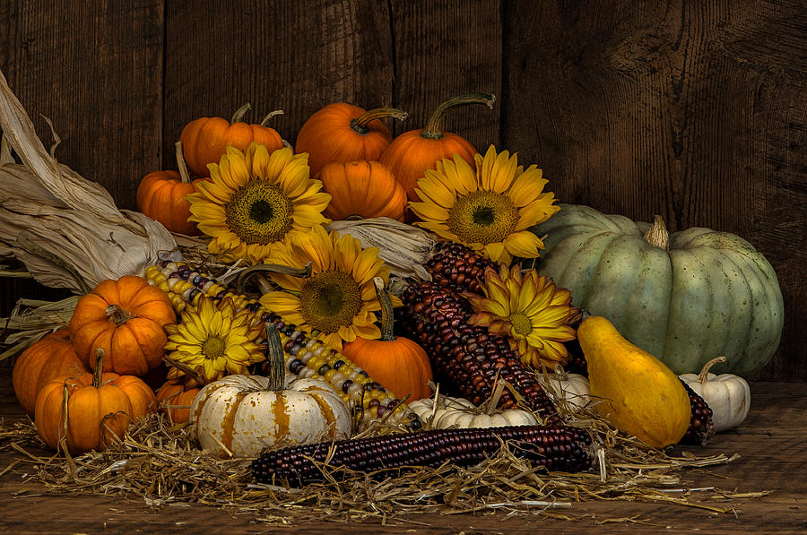 Corn Photograph - Fall Assortment by Randy Walton