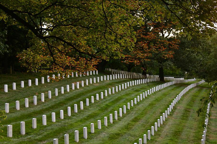 Usa Photograph - Fall At Arlington Cemetery by DustyFootPhotography