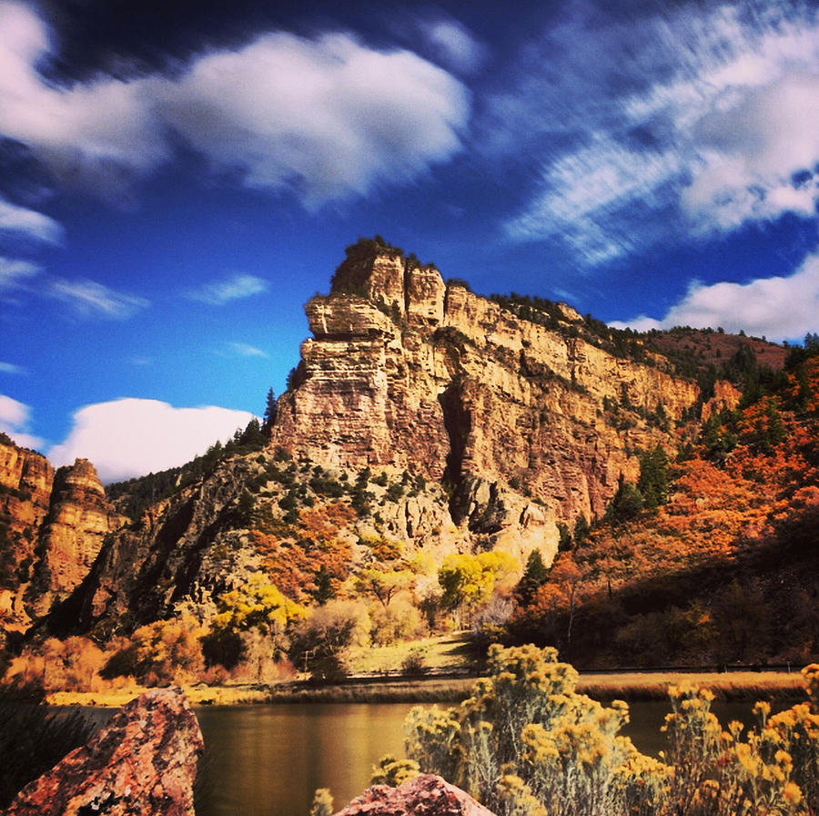 Nature Photograph - Fall At Hanging Lake Colorado by Tory Stoffregen