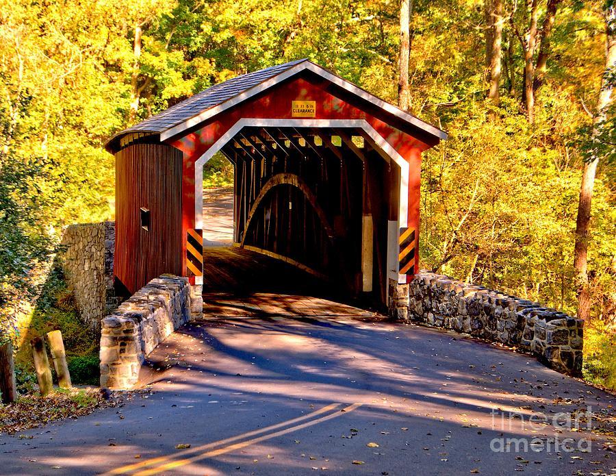 Fall At Kurtzs Mill Covered Bridge Photograph By Nick Zelinsky