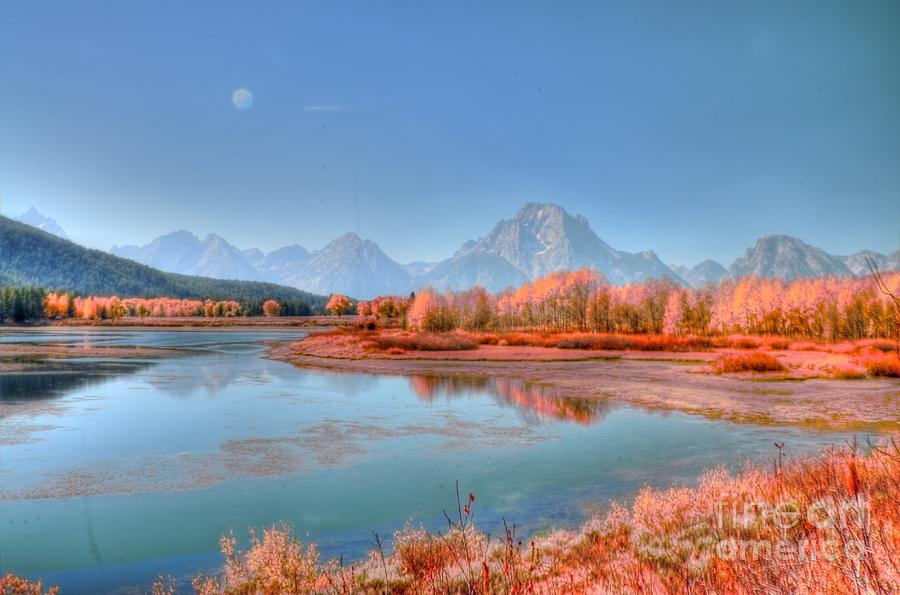 Landscape Photograph - Fall At Oxbow Bend by Kathleen Struckle