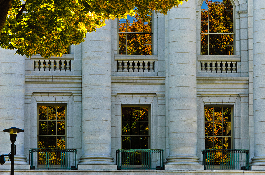 Madison Photograph - Fall At The Capitol by Christi Kraft