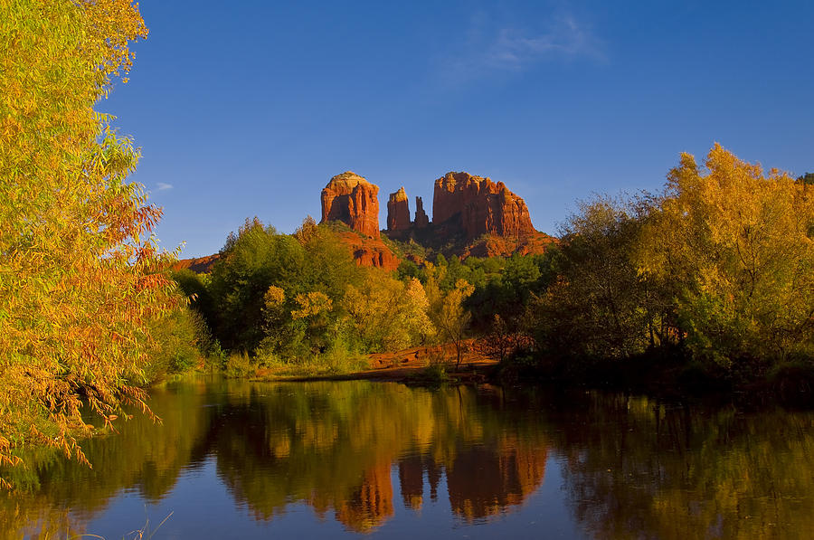 Fall Colors Photograph - Fall At The Crossing by Tom Kelly