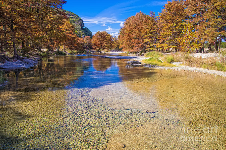 Frio River Photograph - Fall at the Frio River by Andre Babiak