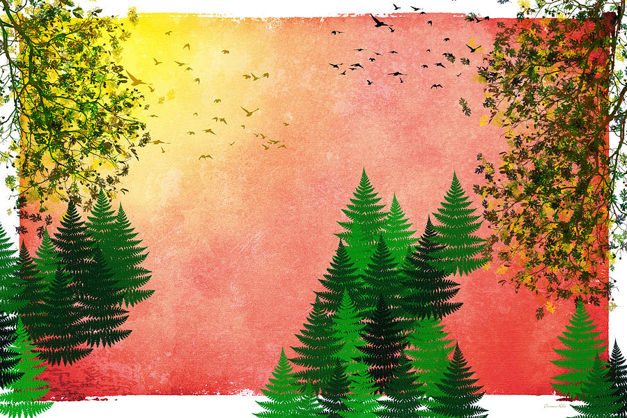 Fall Mixed Media - Fall Autumn Four Seasons Art Series by Christina Rollo