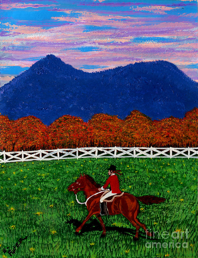 Horse Painting - Fall Back by Edward Fuller