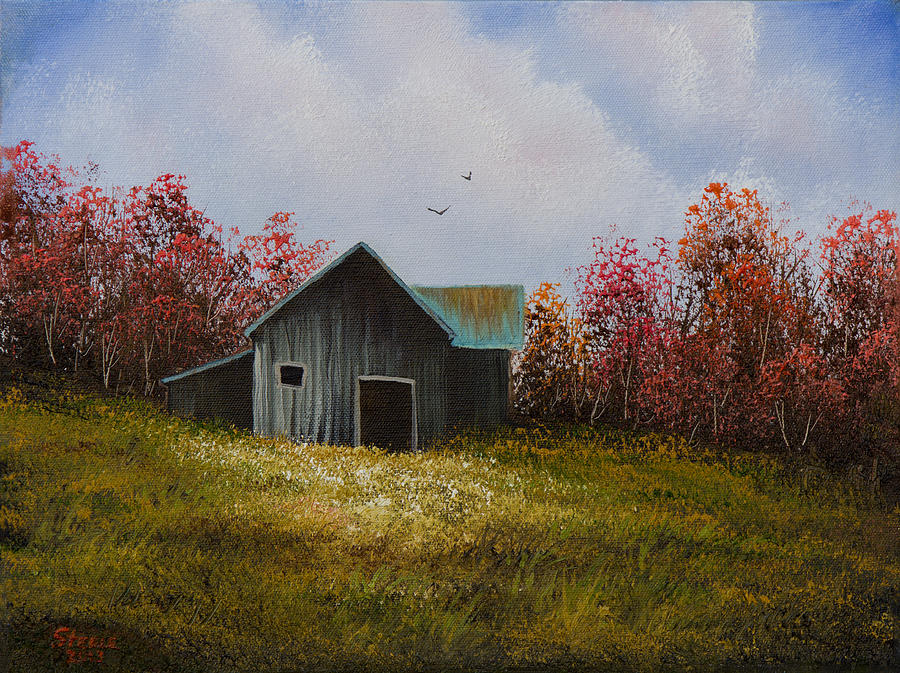 Barn Painting - Fall Begins by C Steele