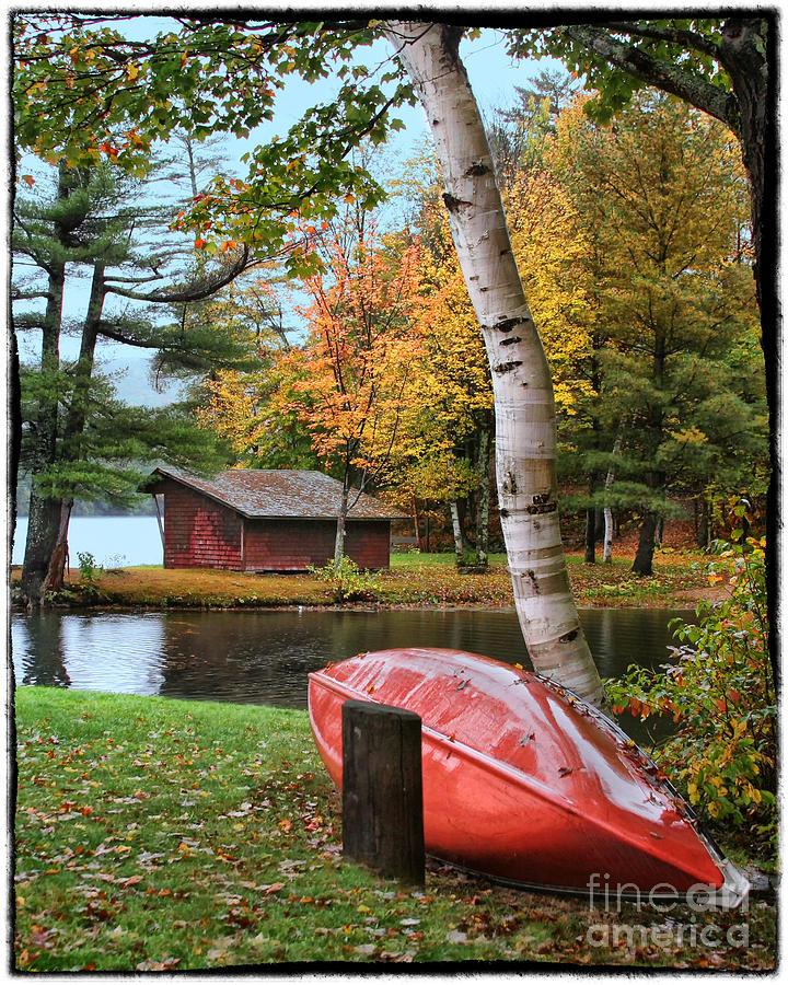 Fall Canoe by Bobbie Turner