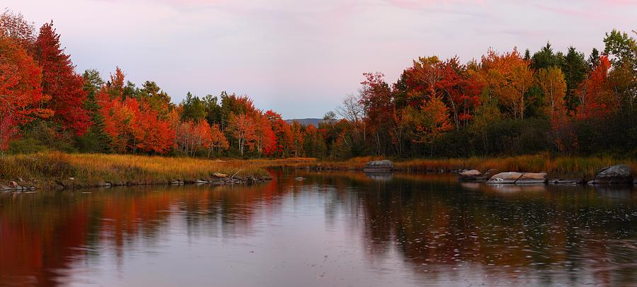Fall Color At Sunset by Mike Farslow