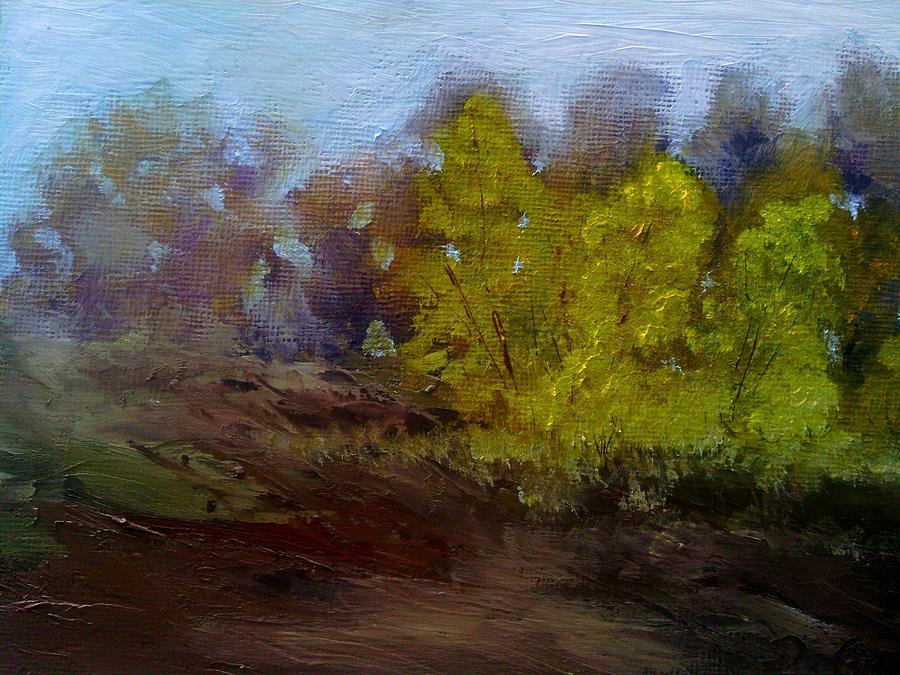Landscape Painting - Fall Color by Dwayne Gresham