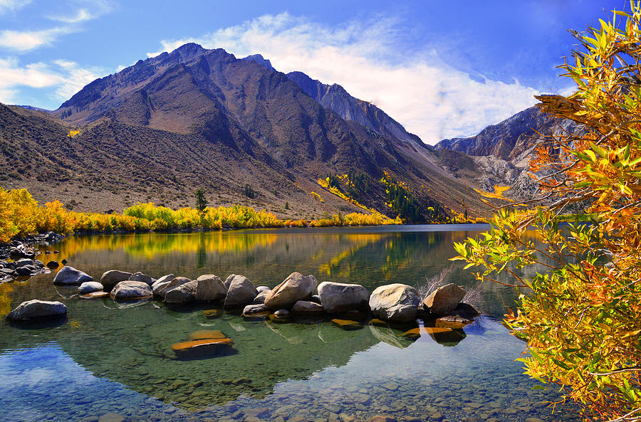 Fall Colors at Convict Lake Photograph by Lynn Bauer