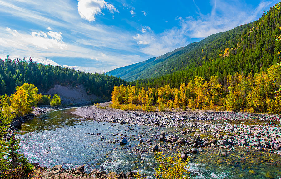 Landscape Photograph - Fall Colors At Glacier National Park by Rohit Nair