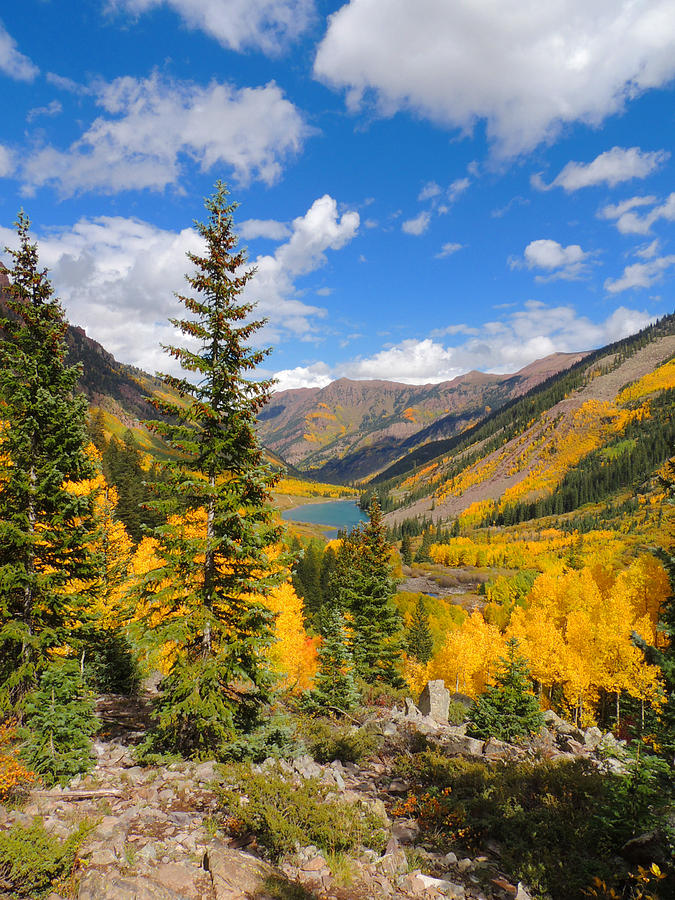 Aspen Photograph - Fall Colors At Maroon Lake 2 by Steve Anderson
