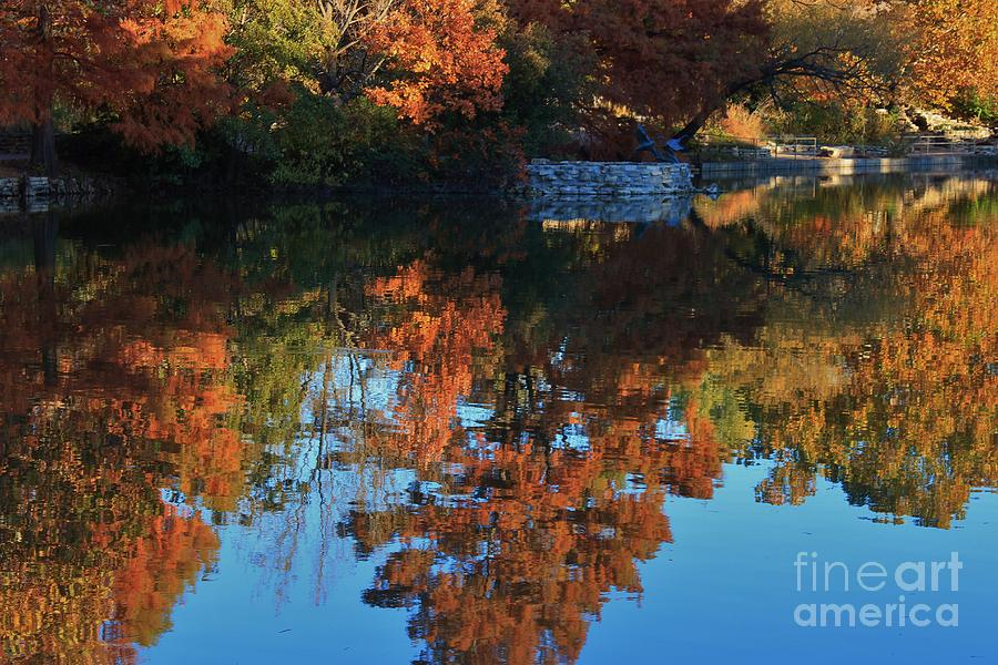 Fall Photograph - Fall Colors Water Reflection by Robert D  Brozek