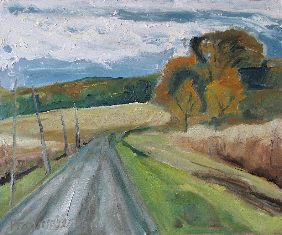 Fournier Painting - Fall Country Road  by Francois Fournier