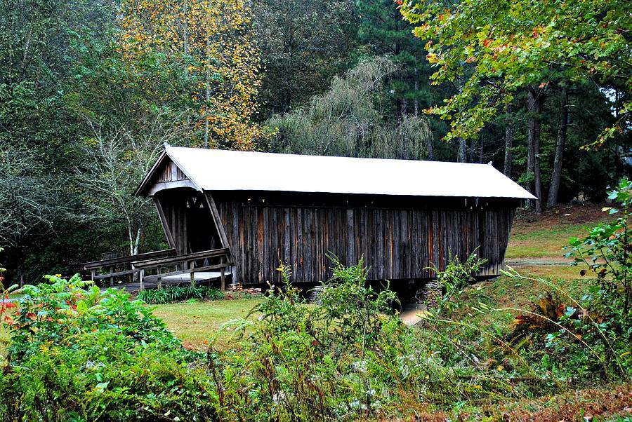 Bridge Photograph - Fall Covered Bridge by Beverly Hammond