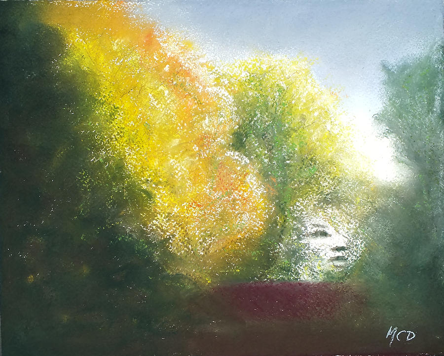 Pastel Landscape Painting - Fall Created by Marie-Claire Dole