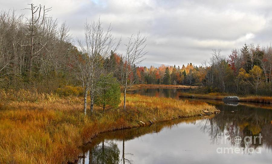River Photograph - Fall Curves by Karin Pinkham