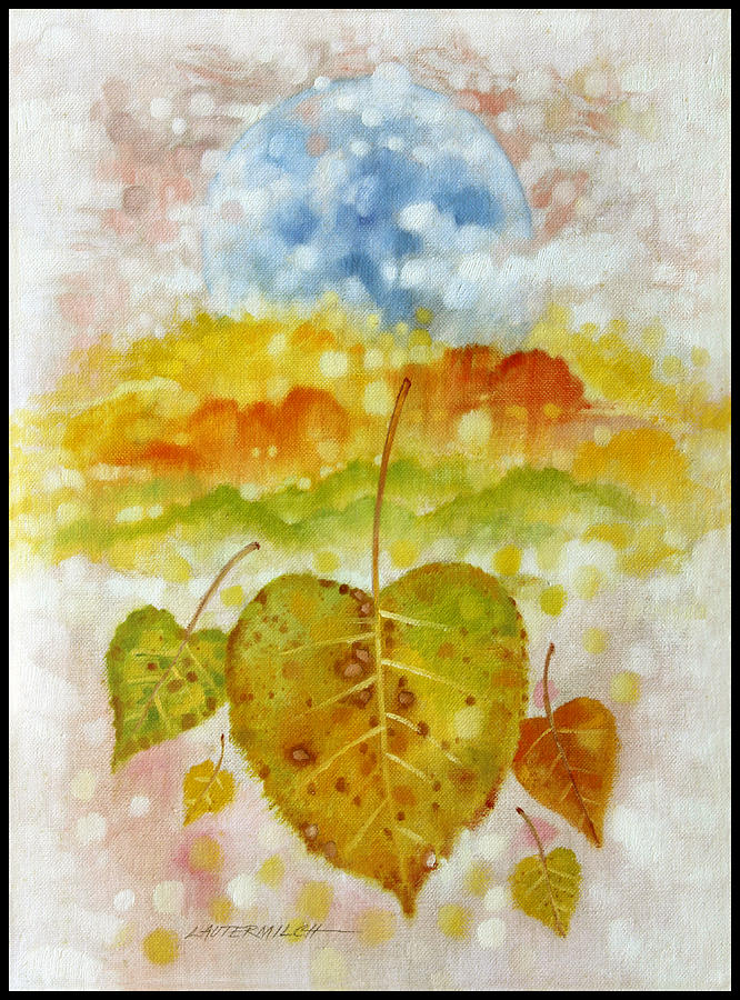 Seasons Painting - Fall Cycle by John Lautermilch