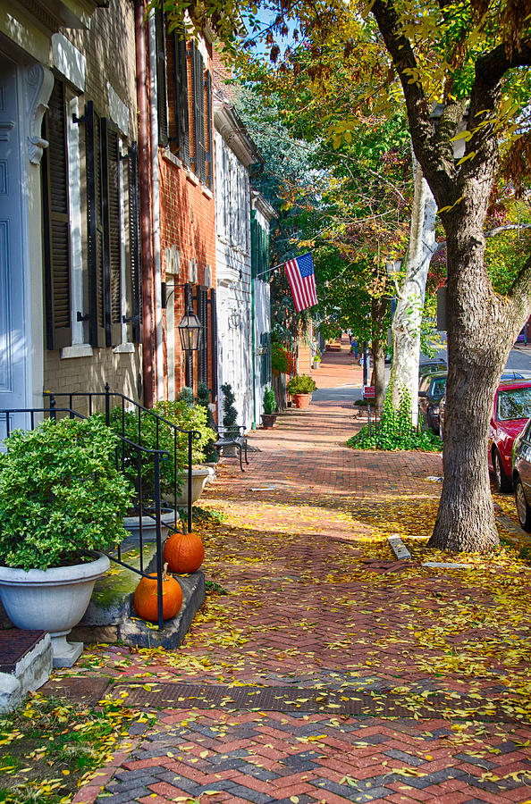fall day in old town alexandria virginia photograph by richard herman