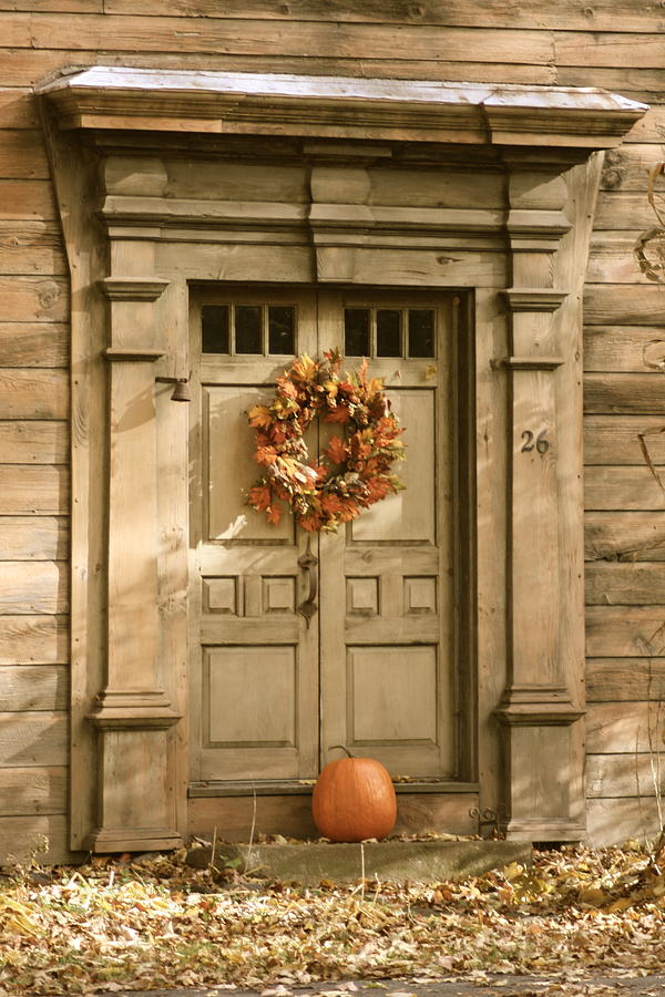Decoration Photograph - Traditional Fall Decor In New England by Robin Regan