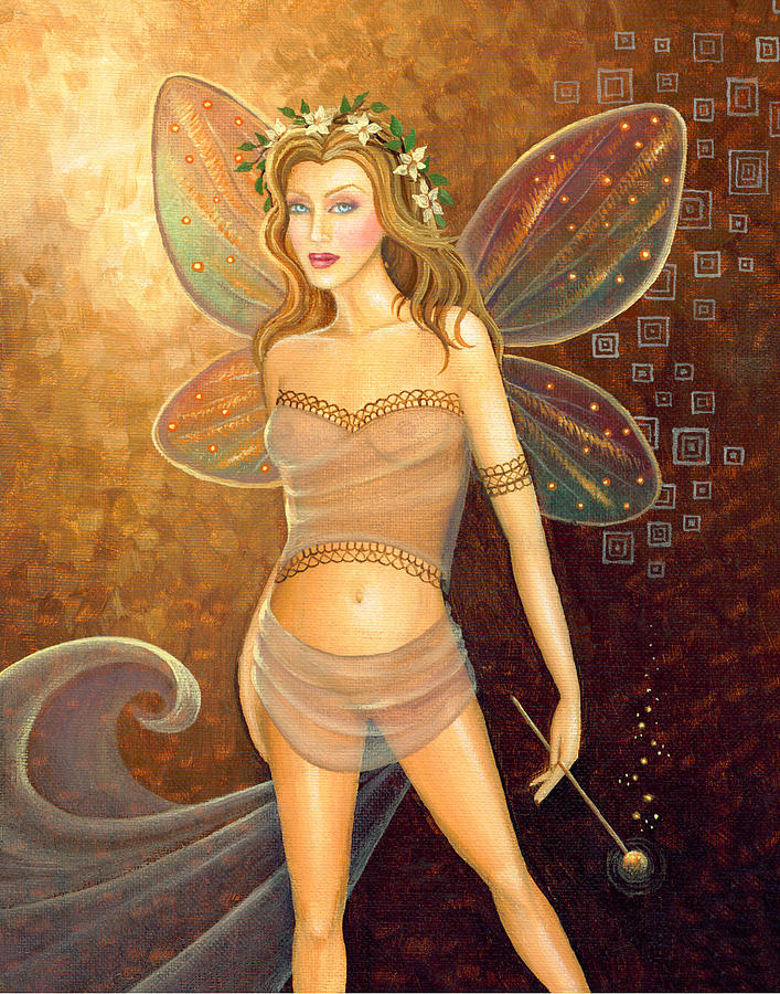 Fairy Painting - Fall Fairy by B K Lusk