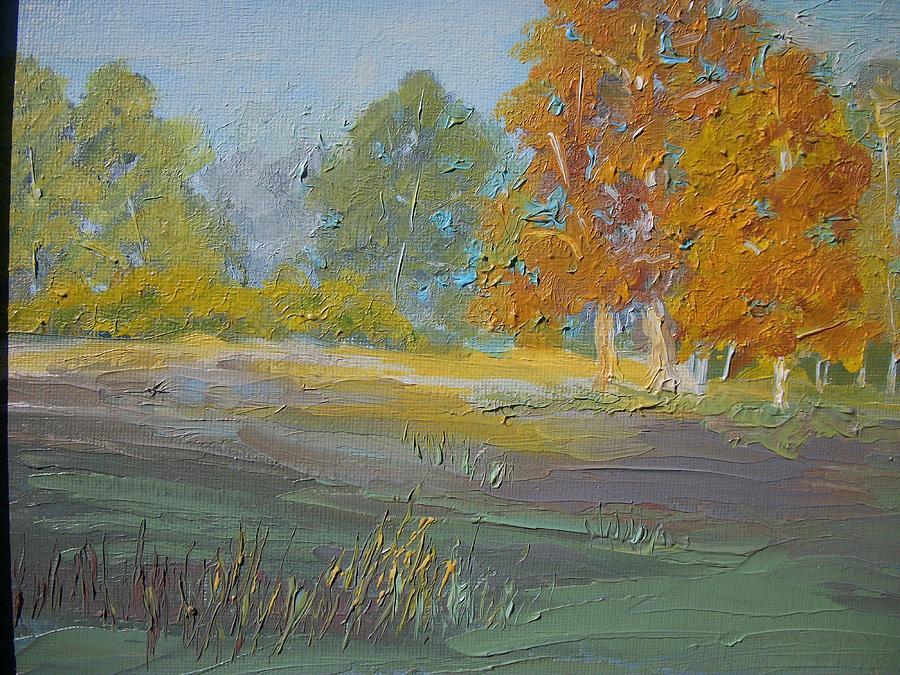 Landscape Painting - Fall Field by Dwayne Gresham