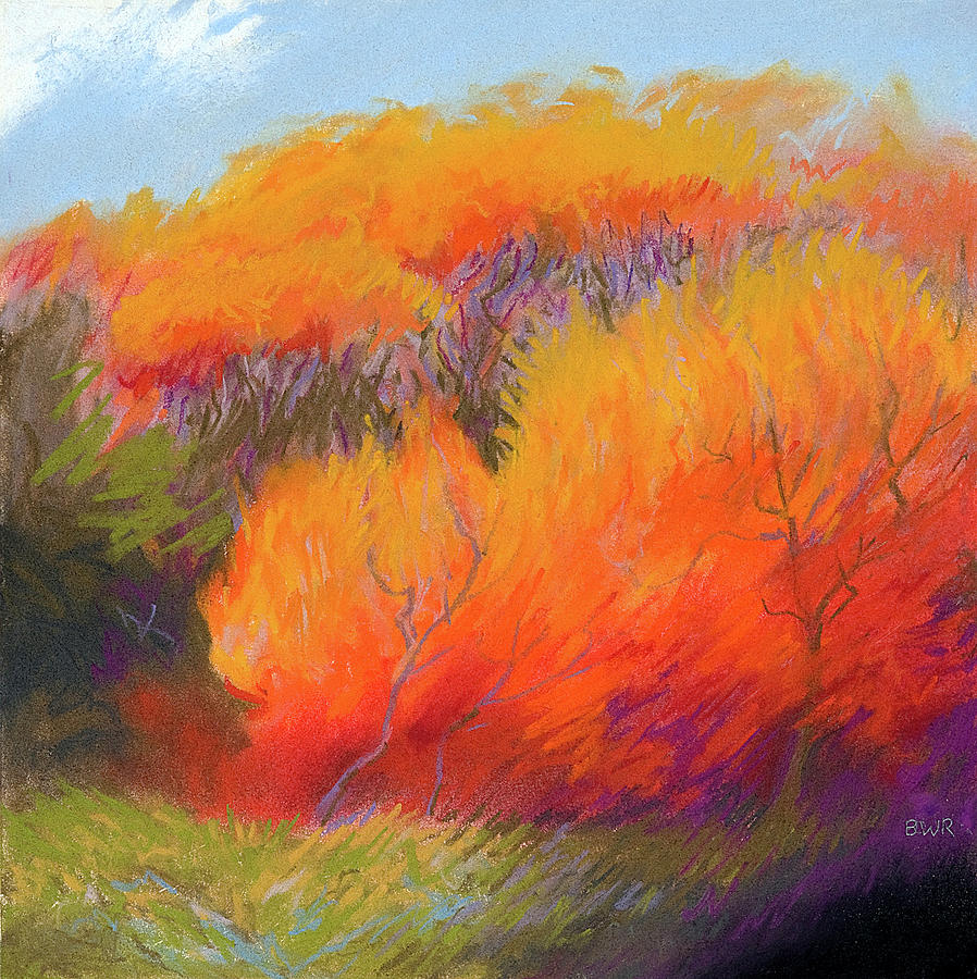 Landscapes Pastel - Fall Fire by Bruce Richardson