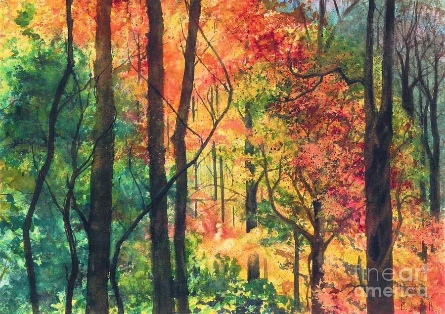 Fall Foliage Painting - Fall Foliage by Barbara Jewell