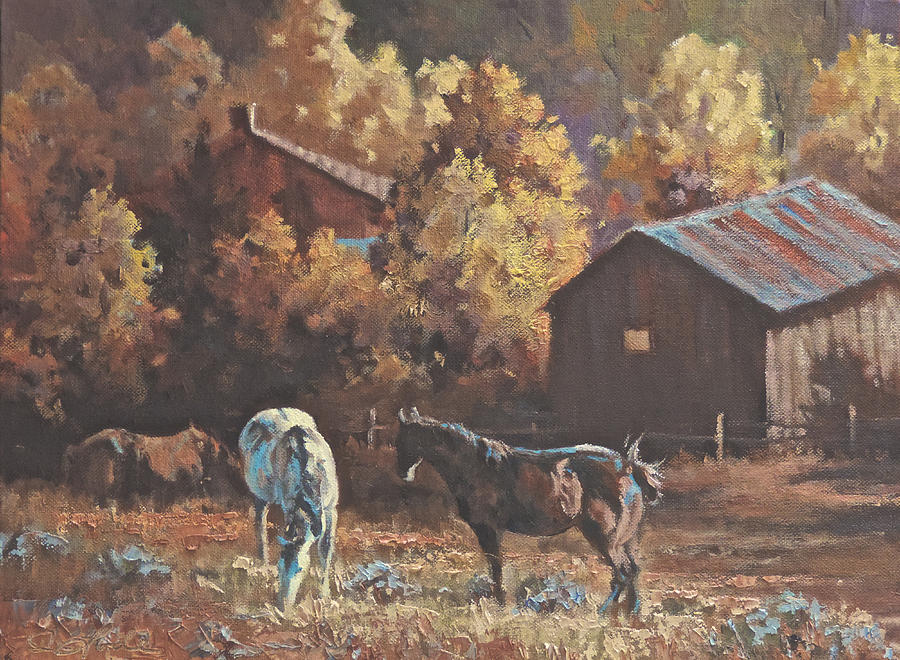 Autum Painting - Fall Forage by Mia DeLode