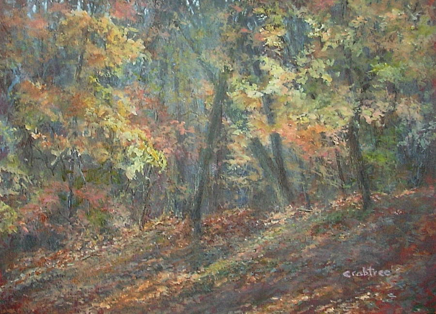 Fall Landscape Painting - Fall Forest by Elizabeth Crabtree