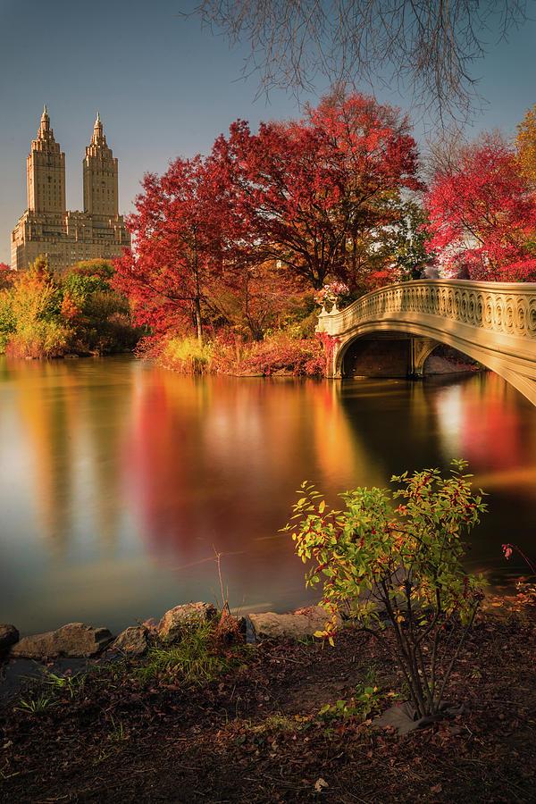 Manhattan Photograph - Fall In Central Park by Christopher R. Veizaga