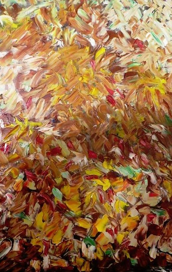 Fall In My Backyard Painting by Ferid Sefer