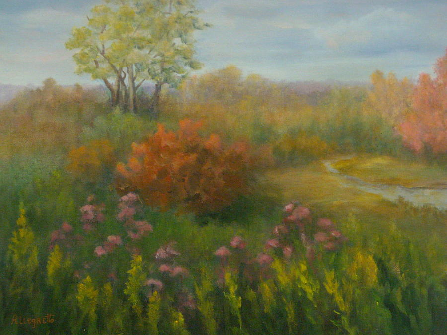 Landscape Painting - Fall In New England by Pamela Allegretto