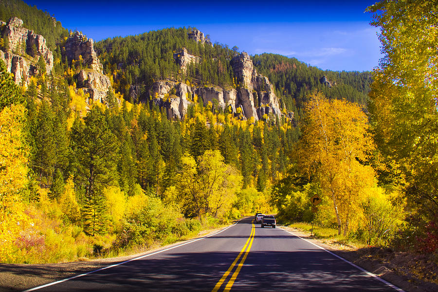 Spearfish Photograph - Fall In The Canyon by Evan Ludes