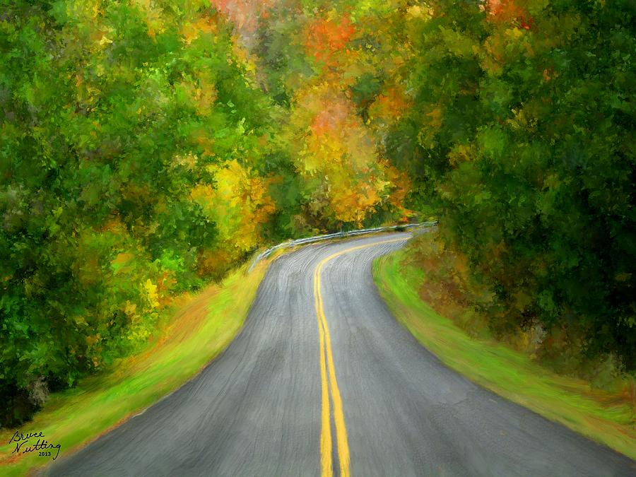 Fall Is Coming Country Road Painting