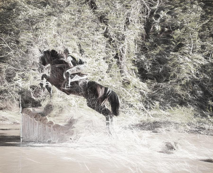 Fairhill International Photograph - Fall Jump by Alice Gipson