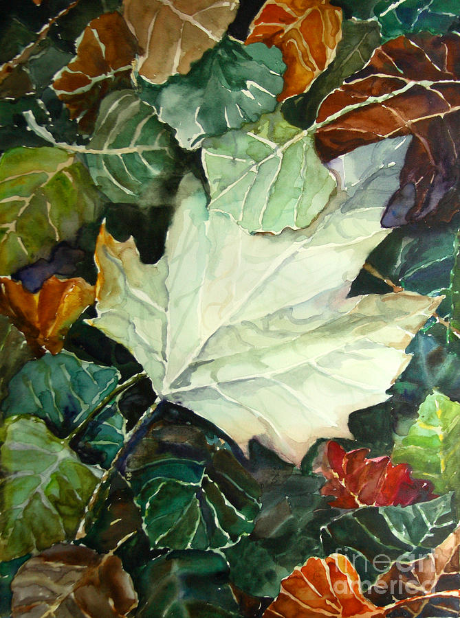 Nature Painting - Fall Leaves by Jennifer Apffel