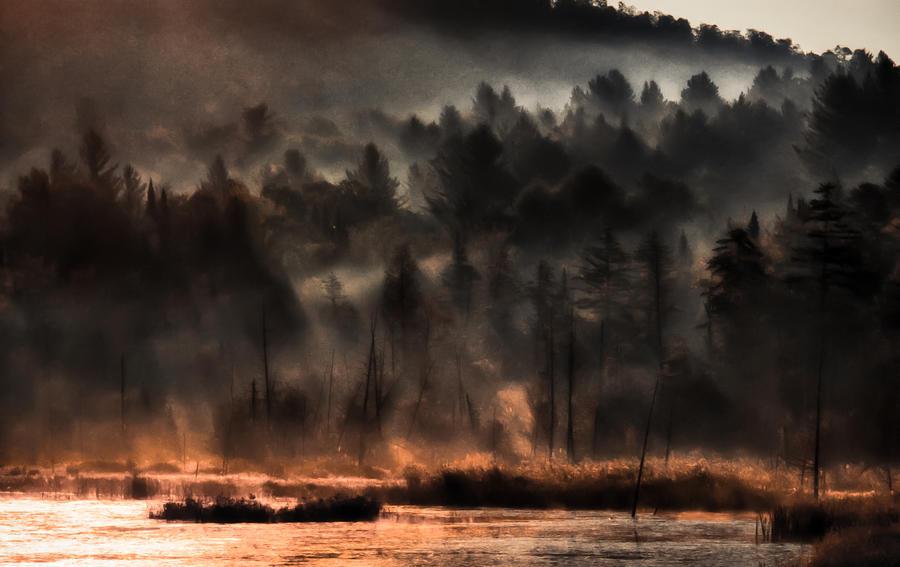Fall Foliage Photograph - Fall Morning Fog by Jeff Folger