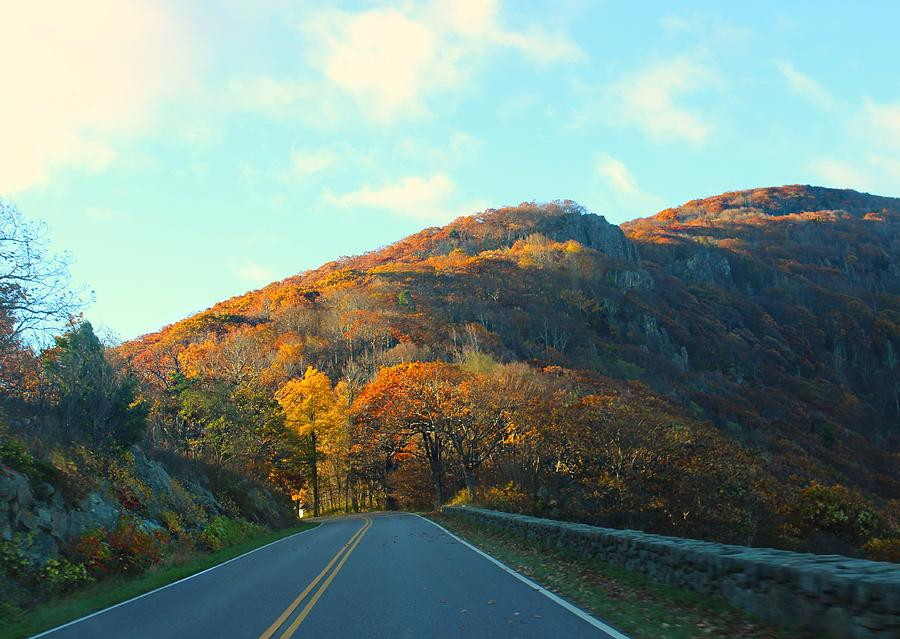 Autumn Photograph - Fall Mountain Road by Candice Trimble