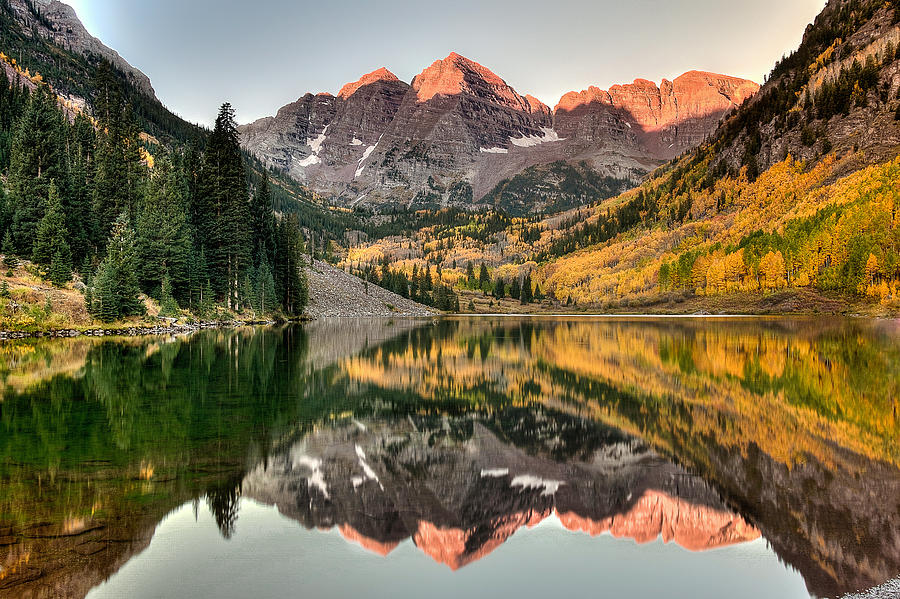 Maroon Bells Photograph - Fall N Reflections by Ryan Smith