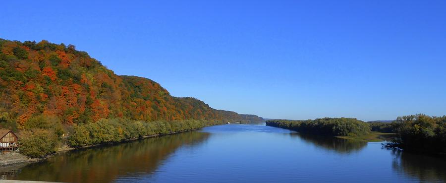 Mississippi River Photograph - Fall On The Mississippi River  by Dina Stillwell