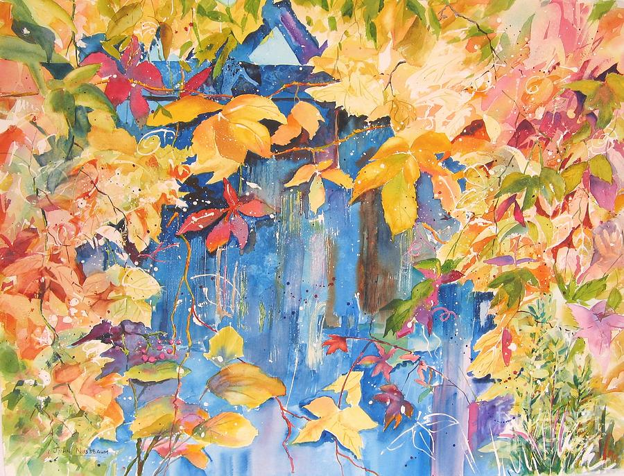 Abstract Paintings Painting - Fall Palette by John Nussbaum
